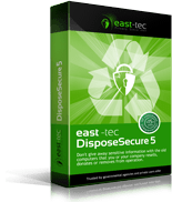 Securely erase hard disk - east-tec DisposeSecure 5