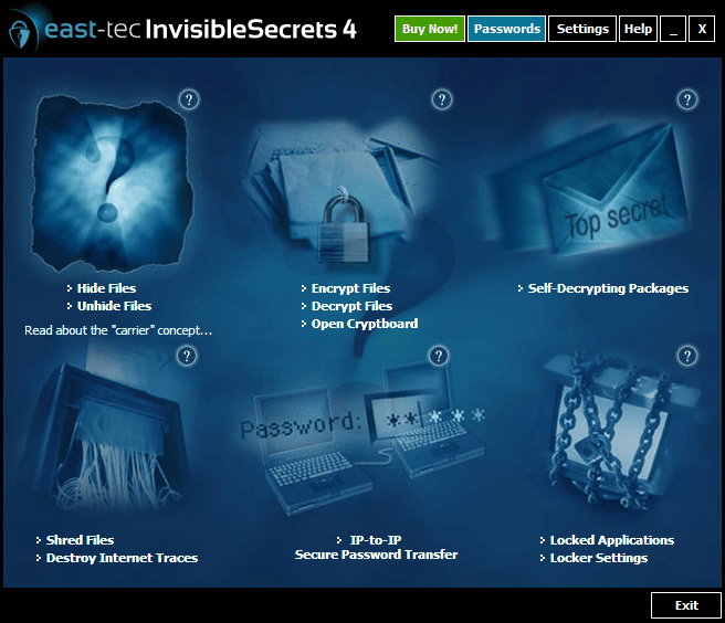 Windows 7 east-tec InvisibleSecrets 4.8 full